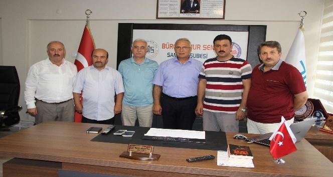 Büro Memur-Sen Genel Başkan Yardımcıları Turhan ve Bingöl Samsun'da