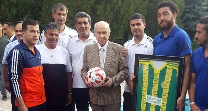 MHP Lideri Bahçeli'den Osmaniyespor'a ziyaret