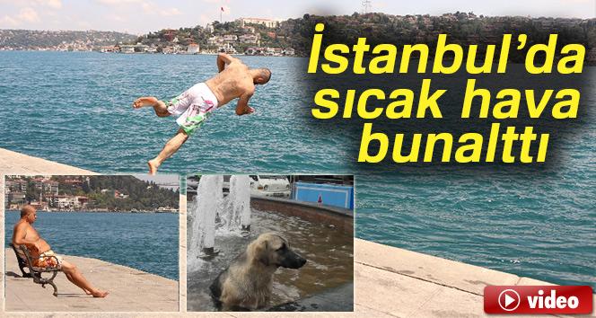 İstanbul'da sıcak hava bunalttı, vatandaşlar serinlemek için farklı yollara başvurdu