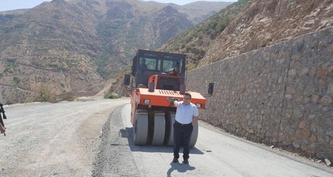 Pervari-Beğendik yolu asfaltlanıyor