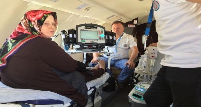 Kalp cihazı alarm verdi, ambulans uçakla Ankara'ya gönderildi