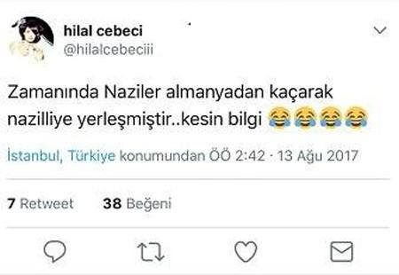 Hilal Cebeci'den tepki çeken Nazilli paylaşımı
