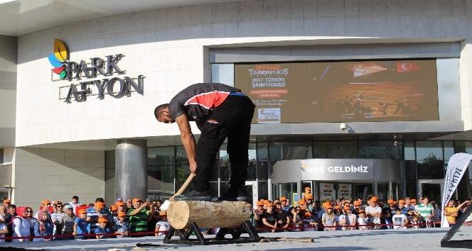 """""""Stıhl Tımbersports Türkiye Şampiyonası"""" Afyonda ilk kez Park Afyon Alışveriş Merkezinde gerçekleştirildi"""