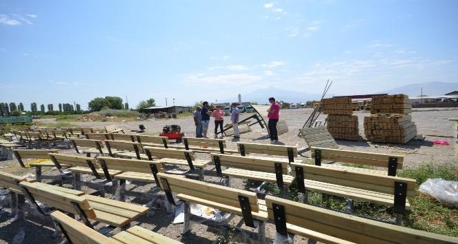 Iğdıra yeni park ve bahçe ekipmanları