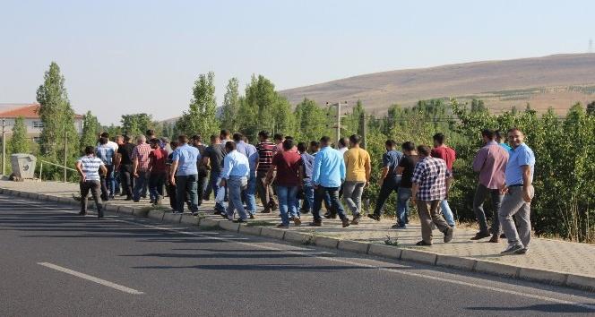 Kırşehirde işçilerden yemek eylemi