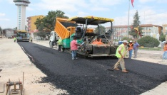 Yenilenen Turhalda asfalt çalışması başlatıldı