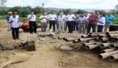 Eynal Kaplıcalarında sıcak su sondaj çalışması