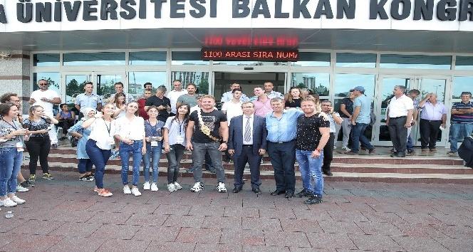 Antalyalı başpehlivan eğitim hayatını Edirnede sürdürecek