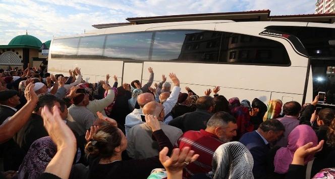 Yozgatta hacı adayları kutsal topraklara uğurlandı
