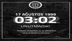 Başkan Yağcının 1999 depreminin 18. yıl dönümü mesajı