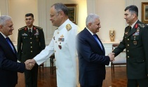 Kuvvet komutanlarından Başbakan Yıldırıma veda ziyareti