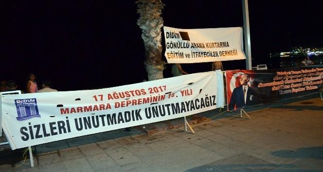 Marmara depremi 18. yılında Didimde unutulmadı