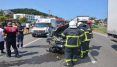 Fatsada trafik kazaları: 13 Yaralı