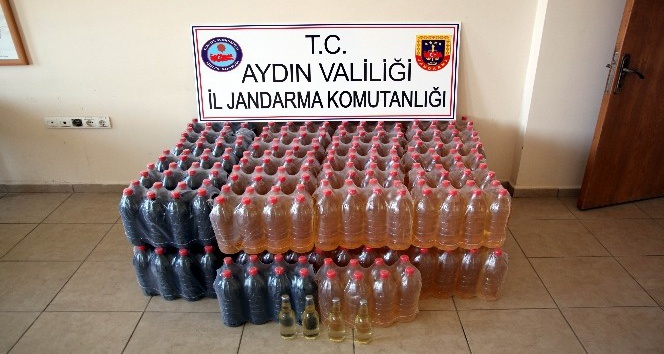 Kuşadasında 600 litre kaçak şarap ele geçirildi