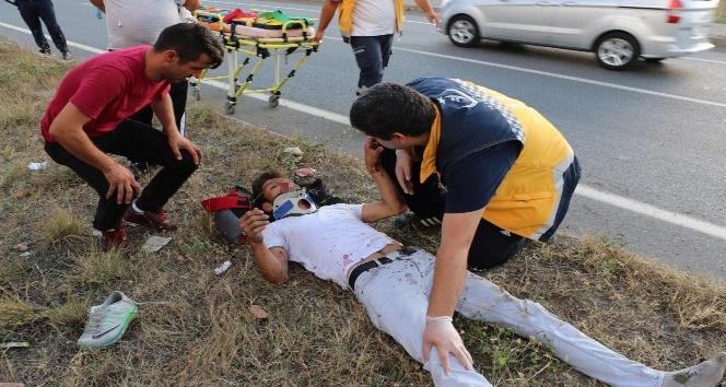 Kaza yapıp yaralandılar, 2 bin 200 TLde ceza yediler