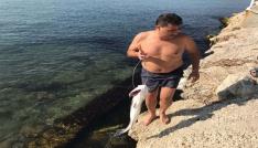 Beylikdüzünde boğuldu sanılan şahıs 3 saat sonra yüzerek çıktı