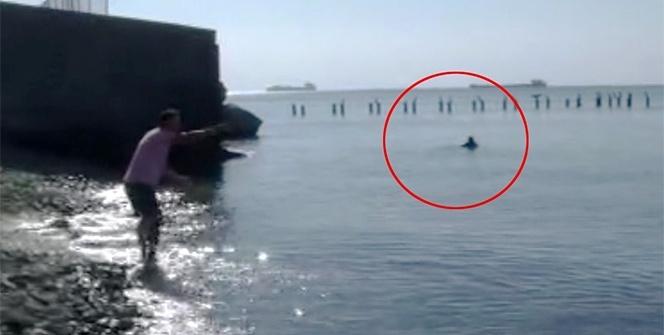 Boğuldu sanıldı, 3 saat sonra yüzerek geldi