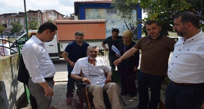 Alo Evlat ekibinden, engelli vatandaşa anlamlı hediye