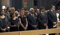 Barselona'da terör kurbanları için cenaze töreni