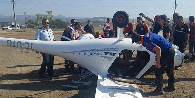 Çanakkale'de korkutan uçak kazası