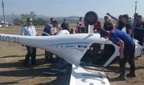 Çanakkalede korkutan uçak kazası