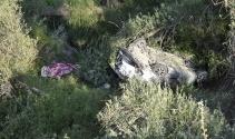 Konyada otomobil 20 metrelik uçuruma yuvarlandı: 1 ölü 2 yaralı