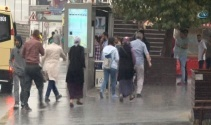 İstanbulda beklenen yağmur başladı