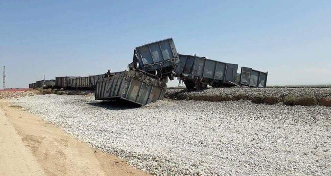 Karaman'da yük treni raydan çıktı
