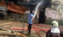 Başkentte korkutan yangın: 1 çocuğun kolu yandı
