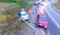 Sinopta trafik kazası: 1 ölü, 6 yaralı