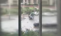 Fırtınaya direndi ama olmadı!