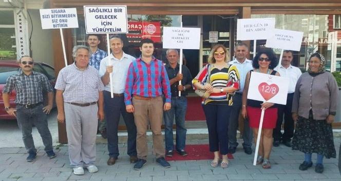 Altınova'da sağlık yürüyüşü