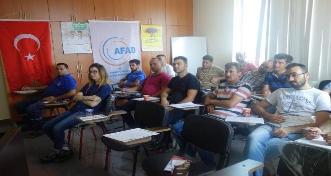 """Osmaniye'de """"Afete Hazır Türkiye"""" projesi eğitim çalışmaları"""