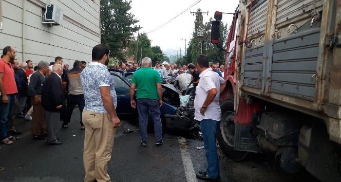 Rize'de feci kaza: Karı-koca hayatını kaybetti