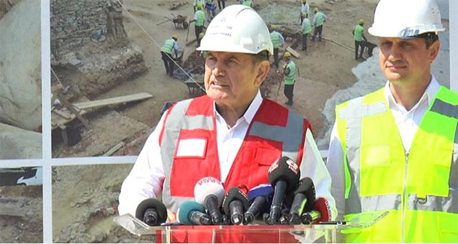Başkan Topbaş, Beşiktaşta bulunan tarihi kalıntılarla ilgili konuştu