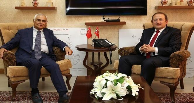 Eski İçişleri Bakanı Ülkü Gökalp Güney, Vali Ali Hamza Pehlivan'ı ziyaret etti