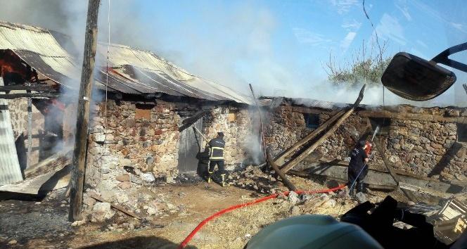 Bingöl'de 2 ahır ve 25 ton saman yandı