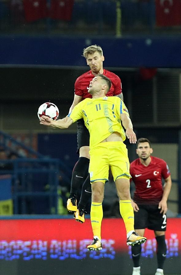 Ukrayna Türkiye maçından özel kareler