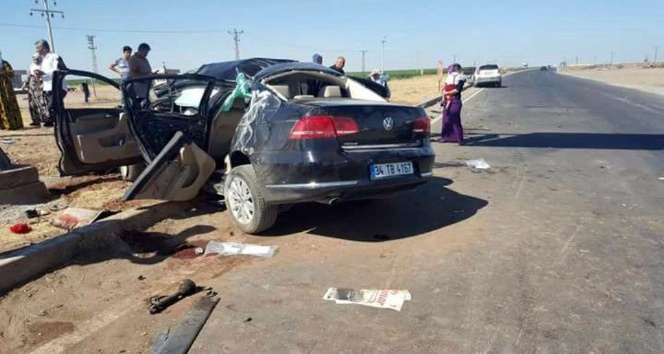 Derik'te trafik kazası: 1 ölü, 4 yaralı