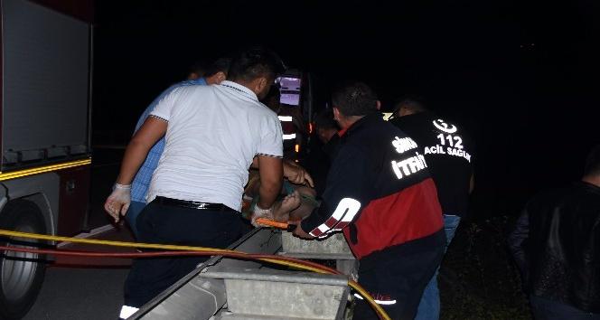 Sinop'ta trafik kazası: 1 ölü, 2 yaralı