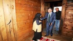 Rize Valisi Erdoğan Bektaş bayramda  şehit ailelerini unutmadı