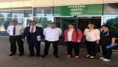 Sağlık Bakanlığı yetkilileri Kırklarelinde hastaların bayramını kutladı