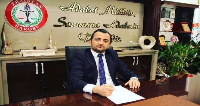 Erzincan Baro Başkanı Aktürk'ten yeni Adli Yıl açılış mesajı