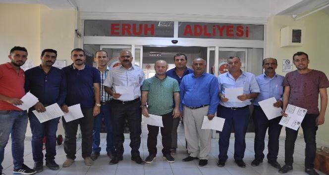 Eruh'ta STK ve muhtarlardan Karayolları hakkında suç duyurusu