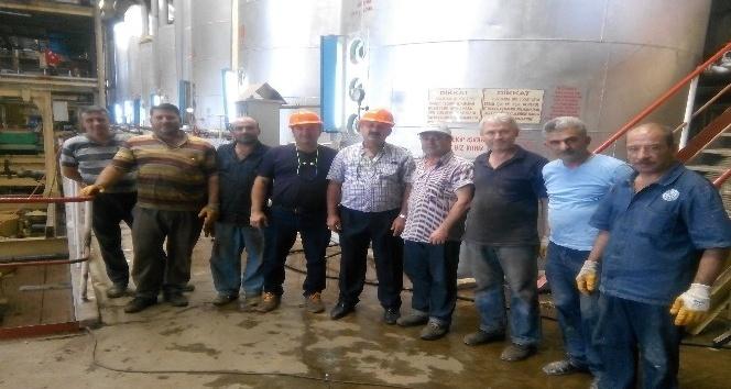 4 yıldır çalışmayan fabrikayı işçiler çalıştırdı
