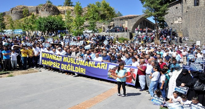 Diyarbakır'da Arakan protestosu