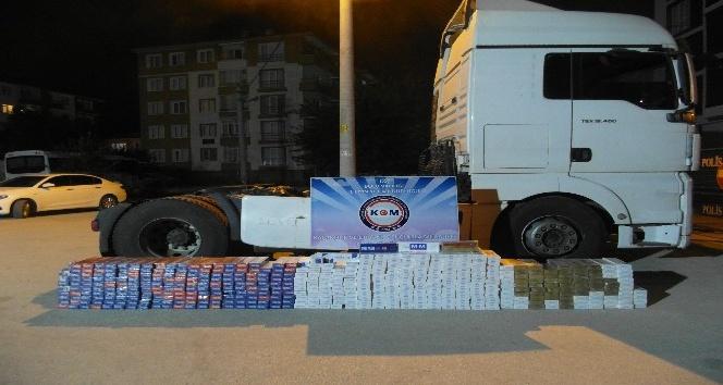 Bolu'da, kaçak sigara operasyonu