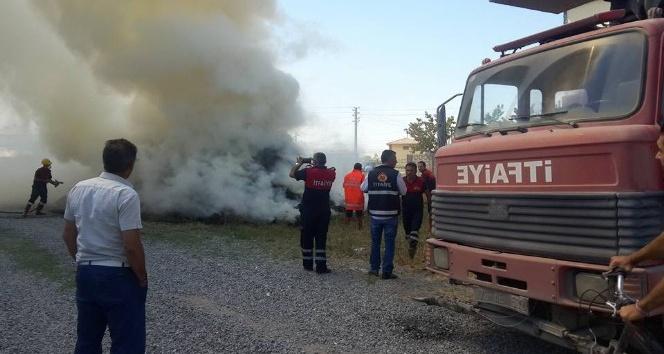 Iğdır'da ot yangını