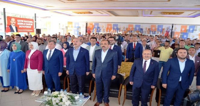 Bakan Soylu memleketi Trabzon'da partisinin ilçe kongresine ve cenazeye katıldı
