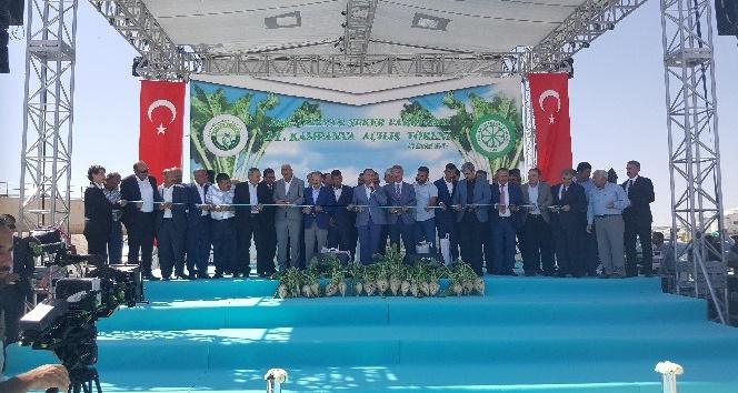 Pancar Çiftçisi'nin beklediği müjdeyi Başbakan Yardımcısı Bozdağ, Boğazlıyan Şeker Kampanya açılışında verdi